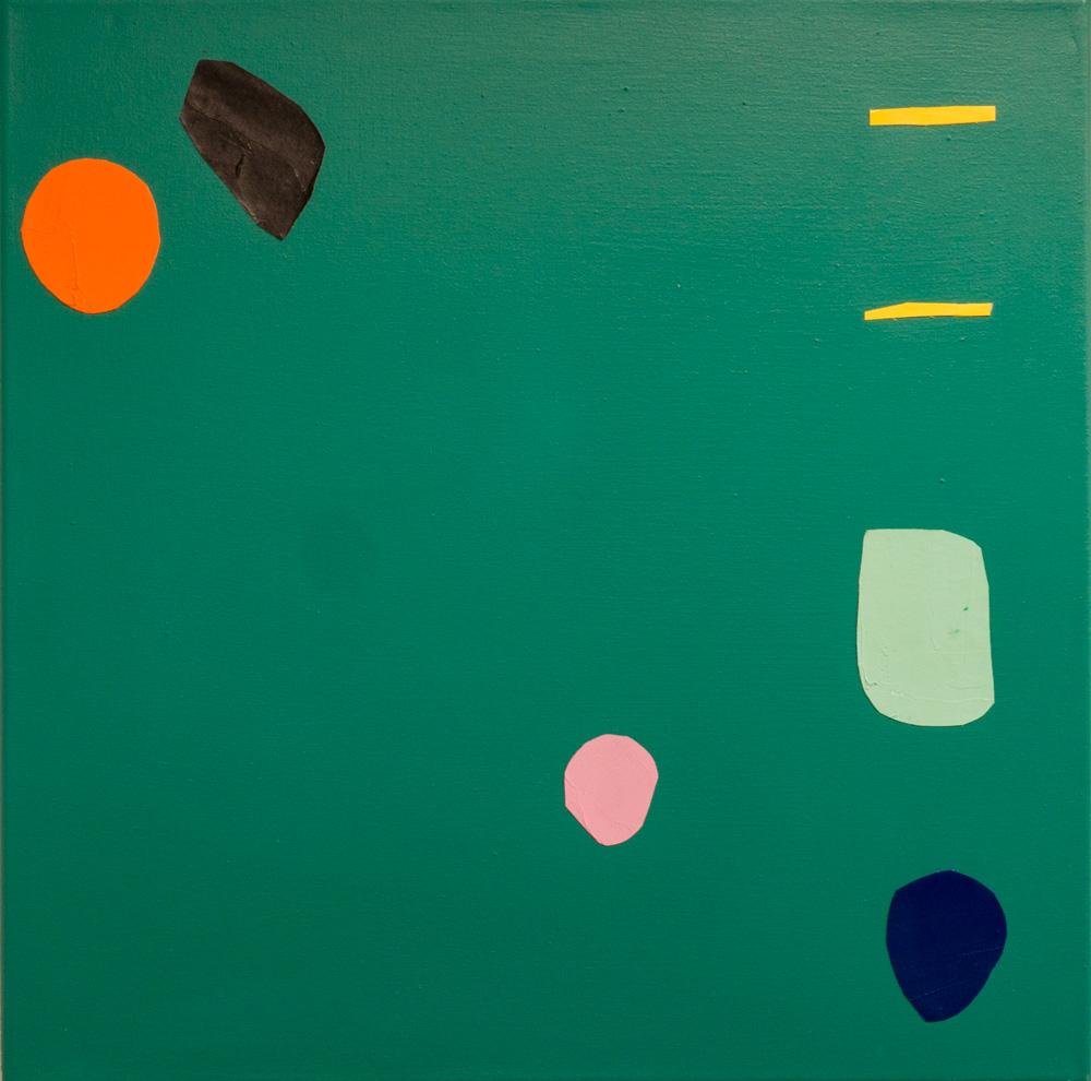 Katja Colling, A, 2016, Öl und Acryl auf Leinwand