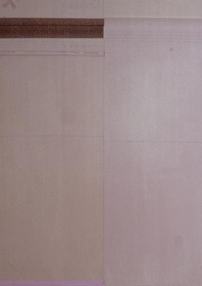 Lola Läufer, Itself D, 2018, Tintenstrahldruck auf Seidenpapier auf Holz