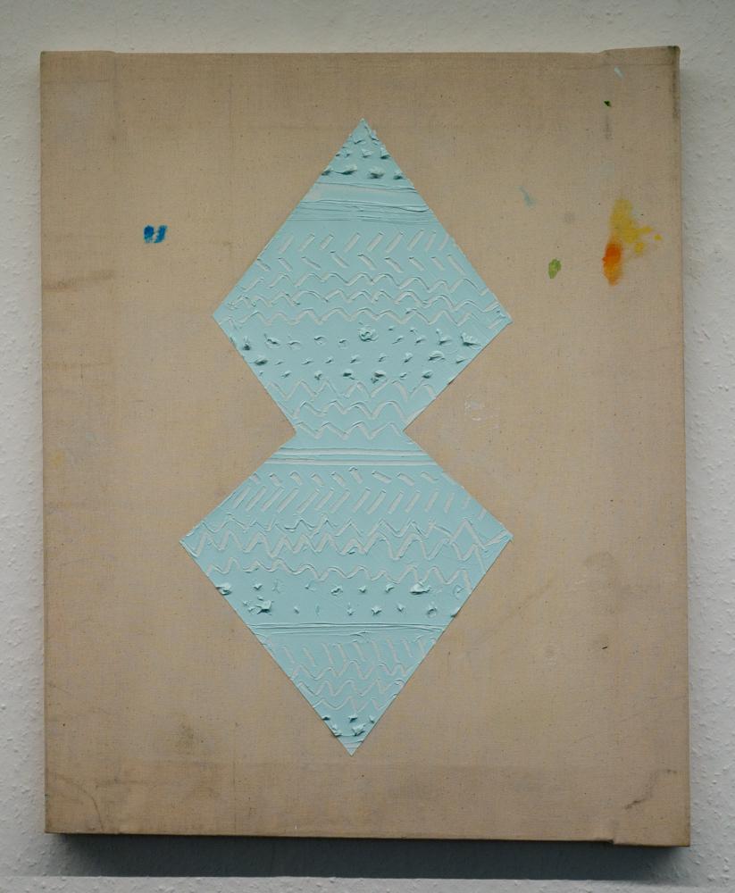 Katja Colling, Ethno Composition, 2017, Öl auf Leinwand