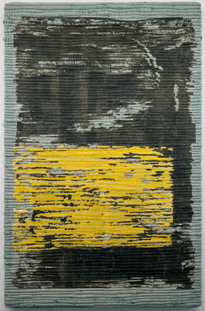 Olga Jakob, Smiling Gold, 2017, Pigment auf Packseide und Baumwolle