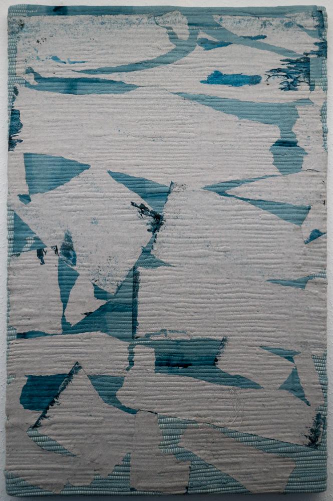 Olga Jakob, Silverado, 2017, Pigment auf Packseide und Baumwolle