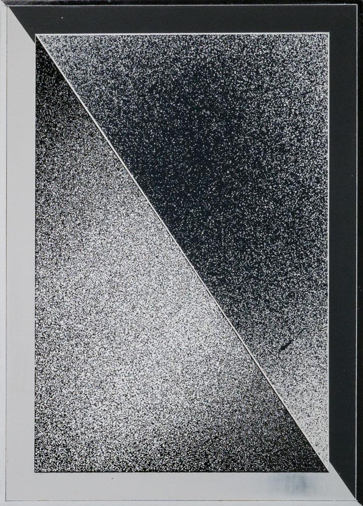 Tim Bohländer, o.T., 2017, Acryl und Lack auf Holz