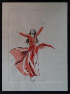 Tänzerin 2013 | Karin Hofmann | Aquarell, Kreide