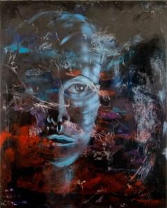 Ereschkil aus der Serie Gilgamesch 2015 | Rita Winkelmann | Acryl auf Leinwand